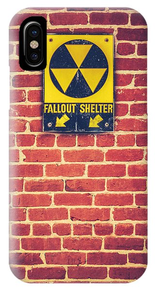 Atomic iPhone Case - Nuclear Fallout Shelter Sign by Mr Doomits