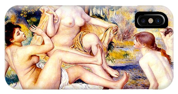 French Painter iPhone Case - Nude Bathers by Pierre-Auguste Renoir