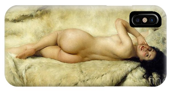 19th Century iPhone Case - Nude by Giacomo Grosso