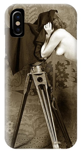 Nude In High Heel Shoes With Studio Camera Circa 1920 IPhone Case