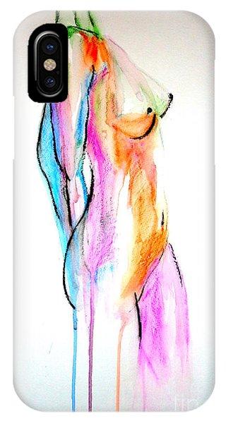 Nude In Watercolor IPhone Case