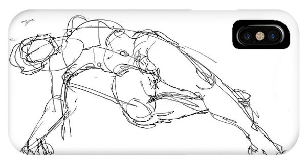 Nude Male Drawings 1 IPhone Case