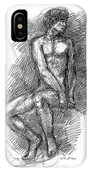 Nude Male Sketches 1 IPhone Case