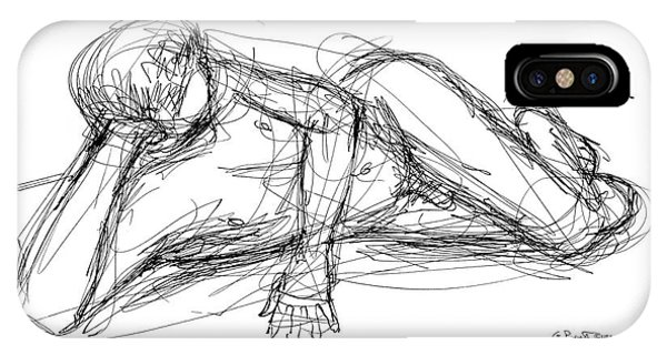 Nude Male Sketches 5 IPhone Case