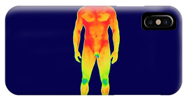 Infrared Radiation iPhone Case - Nude Man by Thierry Berrod, Mona Lisa Production