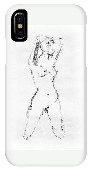 Nude Model Gesture Vii IPhone Case