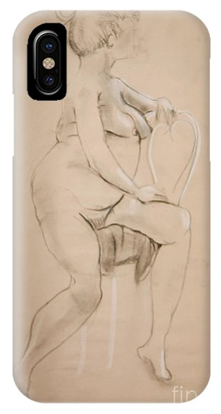 Nude Sits On White Chair IPhone Case