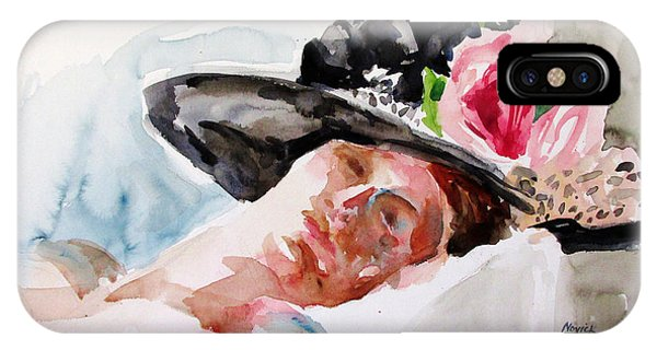 Nude With Flowered Hat IPhone Case
