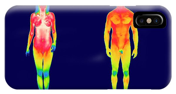 Infrared Radiation iPhone Case - Nude Woman And Man by Thierry Berrod, Mona Lisa Production