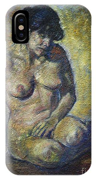 Sad - Nude Woman IPhone Case