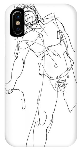 Nude_male_drawing_30 IPhone Case