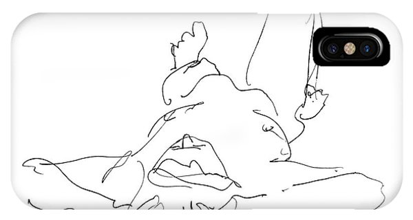 Nude_male_drawings-22 IPhone Case