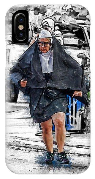 Nun On The Run IPhone Case