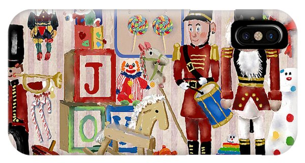 Toy Shop iPhone Case - Nutcracker And Friends by Arline Wagner
