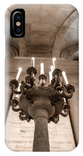 Ny Public Library Candelabra IPhone Case