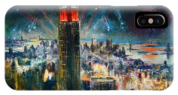 Statue Of Liberty iPhone Case - Nyc In Fourth Of July Independence Day by Ylli Haruni