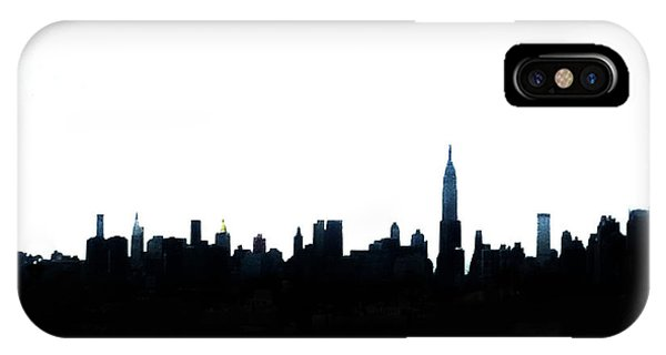 New York City iPhone Case - Nyc Silhouette by Natasha Marco