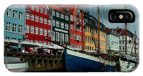 IPhone Case featuring the photograph Nyhavn Copenhagen by Colette V Hera  Guggenheim