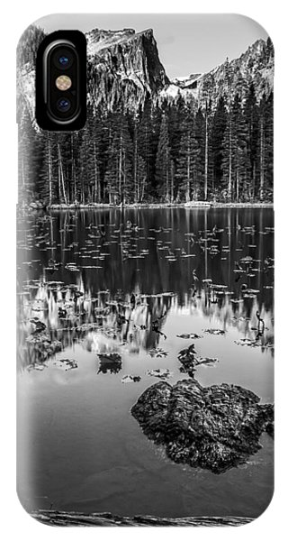 Nymph Lake Sunrise Black And White IPhone Case