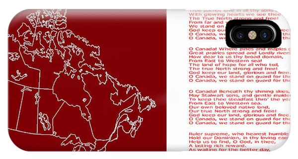 O Canada Lyrics And Map IPhone Case