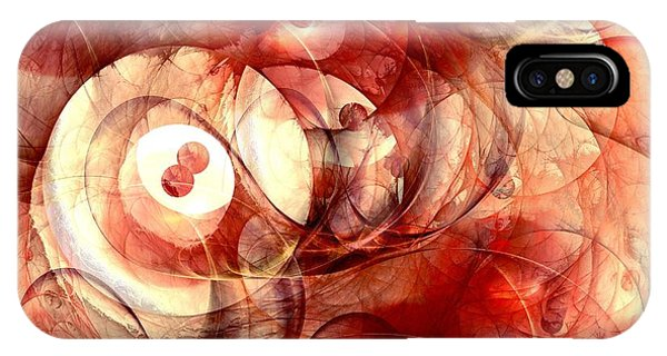 Fractals iPhone Case - O Positive by Anastasiya Malakhova