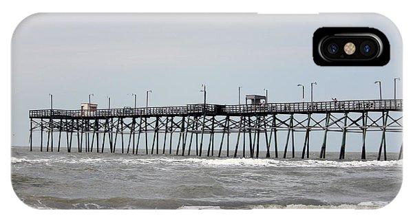 Oak Island Beach Pier IPhone Case