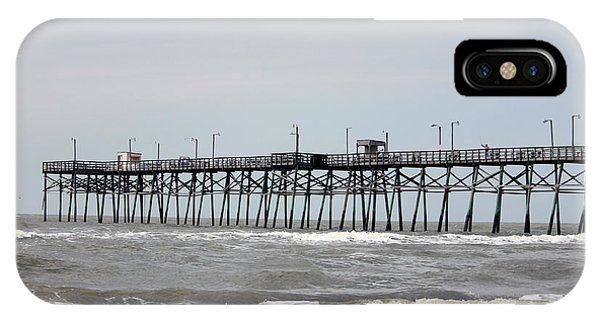 Oak Island Beach Pier IPhone Case