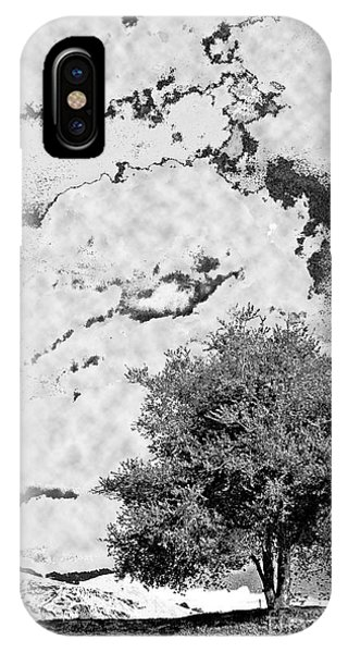 Oak On A Hill Blk And Wht IPhone Case