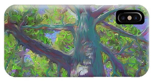 IPhone Case featuring the painting Oak Tree 1 by Hidden  Mountain