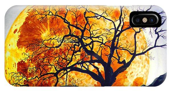 Oak Tree Moonrise IPhone Case
