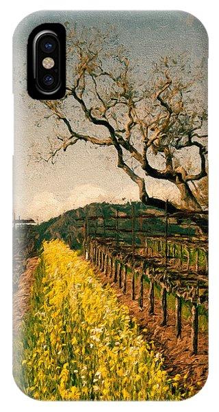 Mustard iPhone Case - Oaks In The Vineyard by John K Woodruff