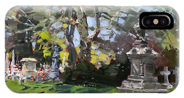 Cemetery iPhone Case - Oakwood Cemetery by Ylli Haruni