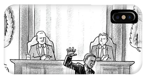 United States Presidents iPhone Case - Obama Dropping A Mic by Benjamin Schwartz
