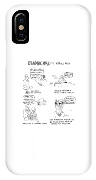 Obamacare The Horrible Truth IPhone Case