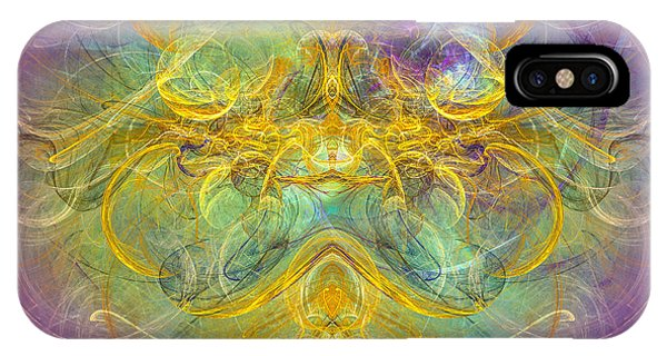 Obeisance To Nature - Spiritual Abstract Art IPhone Case