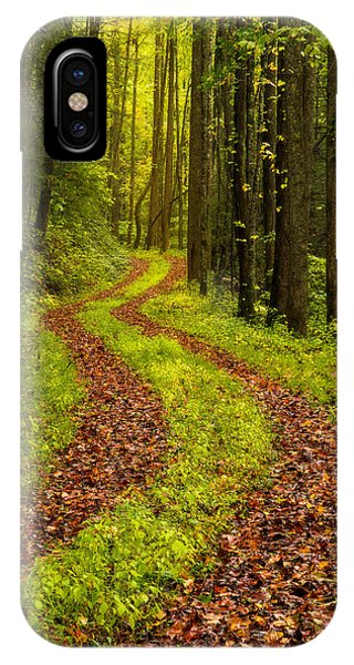 Hiking Path iPhone Case - Obscured by Chad Dutson
