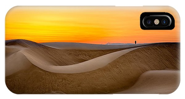 Observing Sunset At The Oceano Dunes IPhone Case