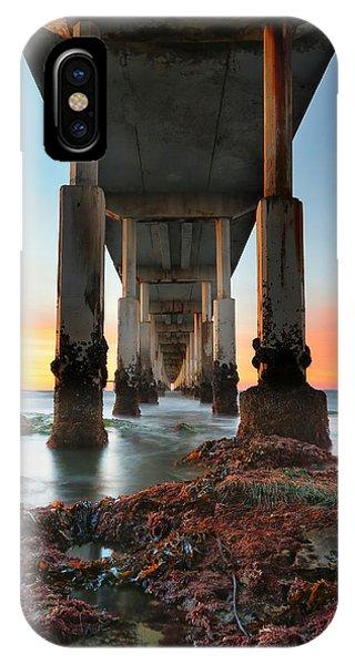 California iPhone Case - Ocean Beach California Pier 2 by Larry Marshall
