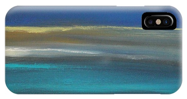 Sand iPhone Case - Ocean Blue 2 by Linda Woods