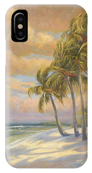 Palm Trees iPhone Case - Ocean Breeze by Lucie Bilodeau