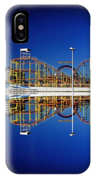 Ocean City Amusement Pier Reflections IPhone Case