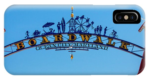 Ocean City Boardwalk Arch IPhone Case