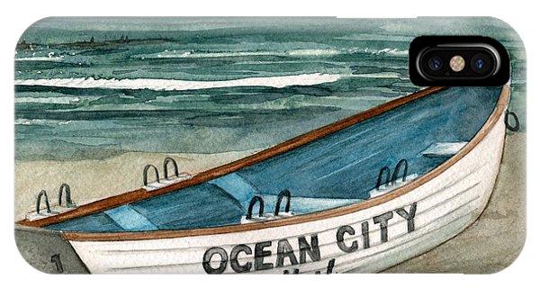 Ocean City Lifeguard Boat 2  IPhone Case