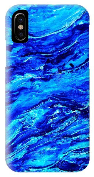 Ocean Explorer Blue Abstract Triptych IPhone Case