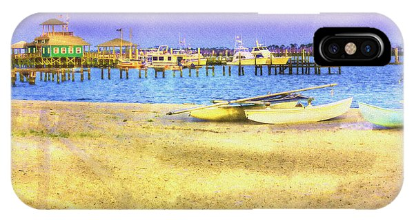 Coastal - Beach - Boats - Ocean Front Property IPhone Case