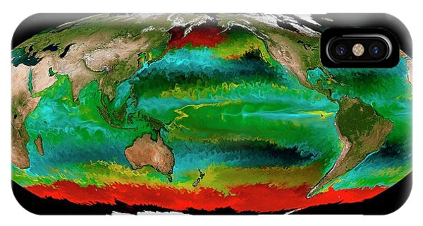 Phytoplankton iPhone Case - Ocean Phytoplankton Types by Mit Darwin Project/ecco2/mitgcm/nasa