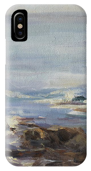 Ocean Rocks With Sailboat IPhone Case