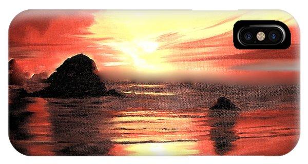 Ocean Shore On Canvas IPhone Case