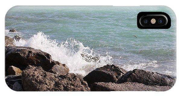 Ocean Spray On Rocks IPhone Case
