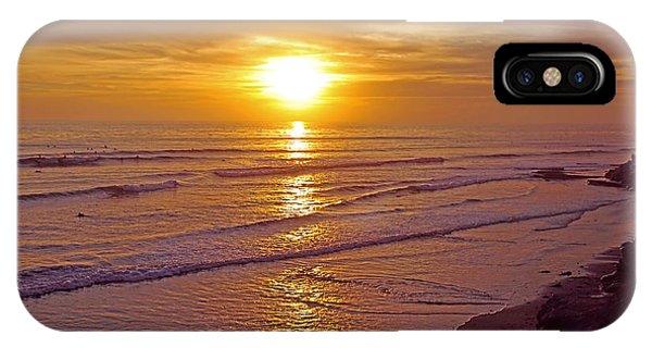 Ocean Sunset Breeze - Metaphysical Healing Energy Art Print IPhone Case